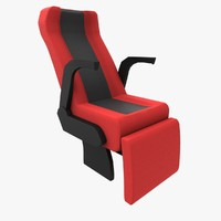 3d model luxury coach seat