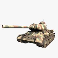 t 34-85 tank german 3d model