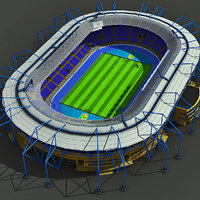 metalist stadium ukraine 3d model