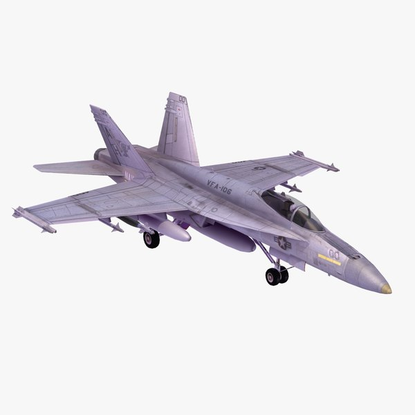 f18e superhornet fighter 3d model