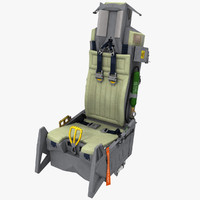 3d model photorealistic aces ii ejection seat