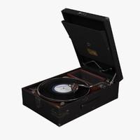 3d portable gramophone