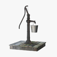 old water pump bucket 3d model