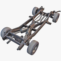 car chassis 3d 3ds