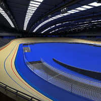 3d model of velodrome london 2012