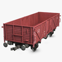 3d cargo train wagon model