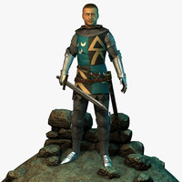 3d model character knights