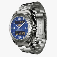 Breitling Emergency Blue-virtual 3d model