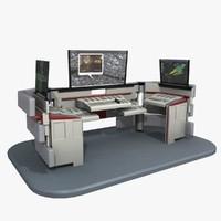 Futuristic Control Desk