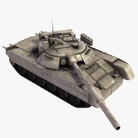 3d t80u main battle tank model