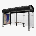 Bus stop enclosure 3D models