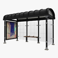 3d new york bus stop