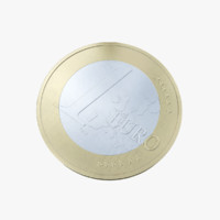 Euro coin 3D models