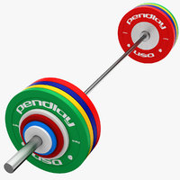 3ds weight lifting barbell