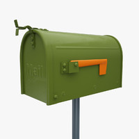 3d model of small mail box