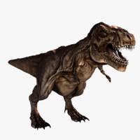 tyrannosaurus rigged rex 3d obj