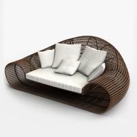3ds max croissant sofa