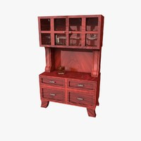 Cabinet with Cocktail Glasses