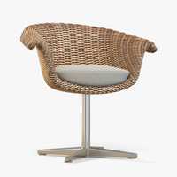 3d wicker chair