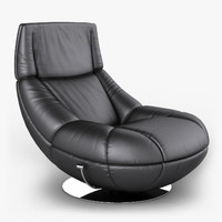 leather armchair sede 3d model