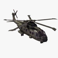 aw101 merlin hc3a helicopter 3d model