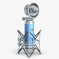 3d model of microphone blue bird