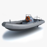 standard navy rhib 3d model