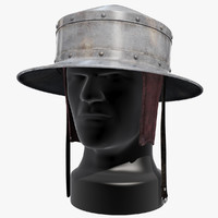 pointed kettle hat helmets 3d max