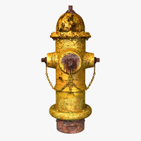 Old Yellow Fire Hydrant