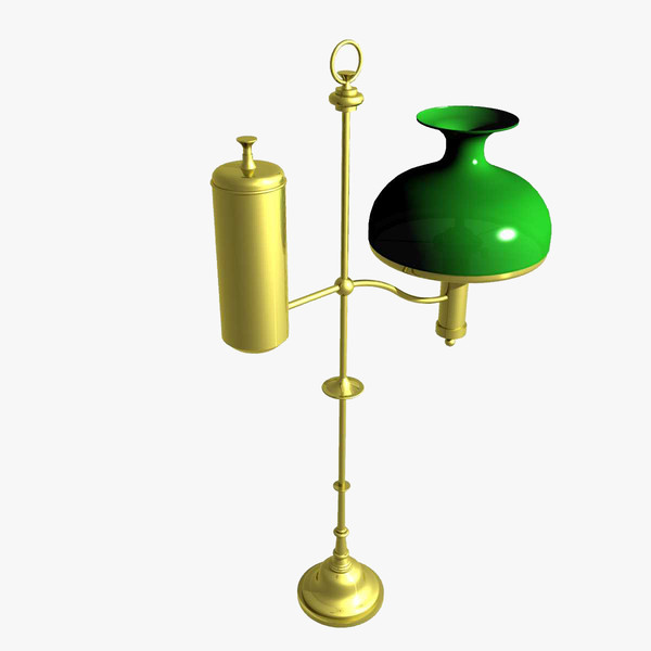 3d model old fashion oil lamp. Black Bedroom Furniture Sets. Home Design Ideas