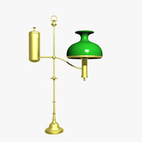 3d model old fashion oil lamp