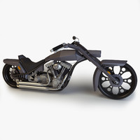 custom chopper 3d max