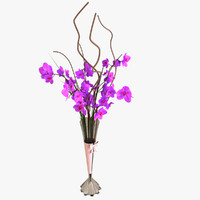 orchid centerpiece 3d model