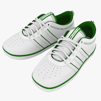 tennis shoes adidas 3d model