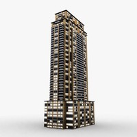 3d model urban apartment chicago ready