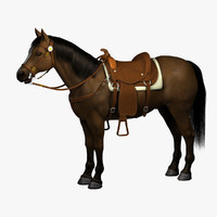 3d realistic horse saddle model