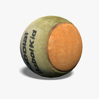 tennis ball used 3d obj