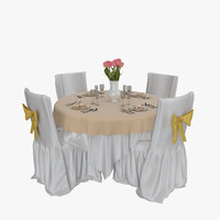 3d model restaurant table 01