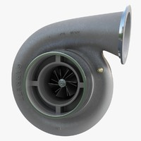 turbocharger compressor wheel 3d model
