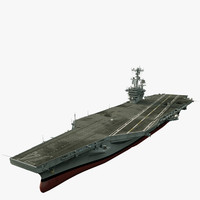 uss c aircraft carrier 3d max