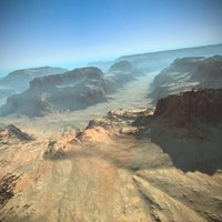 canyon landscape terrain 3d model