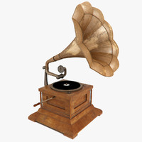 3d model gramophone