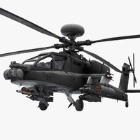 3d model helicopter ah-64 apache usa