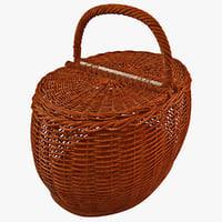 wooden basket 3ds