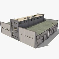 industrial buildings 3d max
