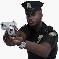 Police Officer Black Male