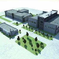 3d industrial plant buildings