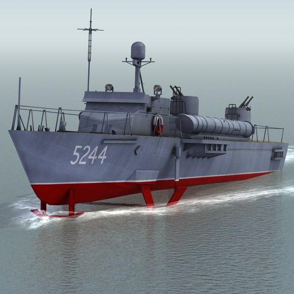 3d huchuan type025 motor torpedo
