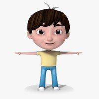 3d cartoon child model