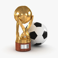 gold cup soccer ball 3d max